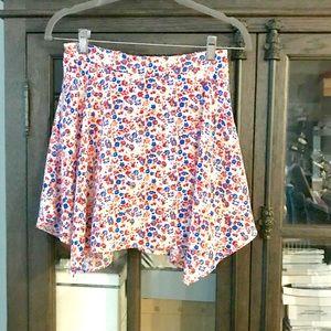 Faded Glory Girls Floral Skort Skirt Sz Lg (10/12)